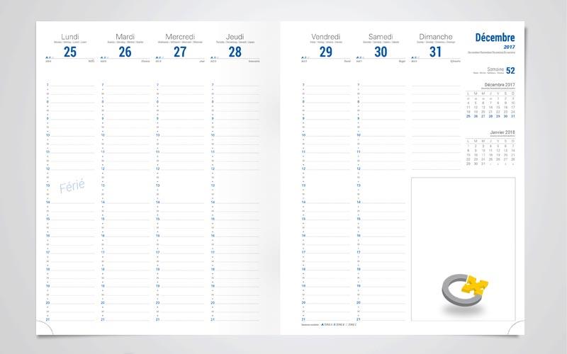 agenda avec repiquage agenda offset 5. Black Bedroom Furniture Sets. Home Design Ideas